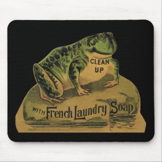Frog French Laundry Soap Mouse Mat
