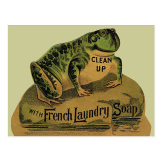 Frog French Laundry Soap Post Card
