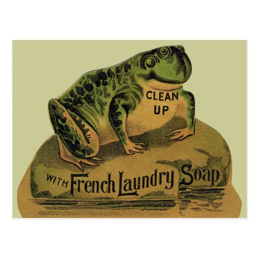 Frog French Laundry Soap Postcards