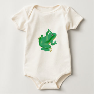 Frog Froggy France Tadpole Baby Bodysuit
