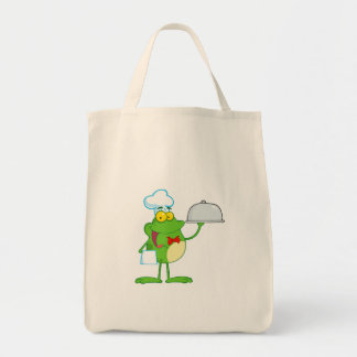 Frog Frogs Amphibian Funny Chef Cartoon Animal Tote Bag