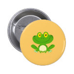 Frog Frogs Amphibian Green Cute Cartoon Animal 6 Cm Round Badge