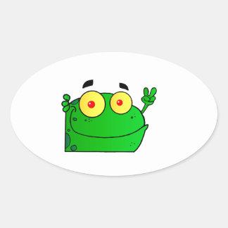 Frog Frogs Amphibian Green Cute Cartoon Animal Stickers