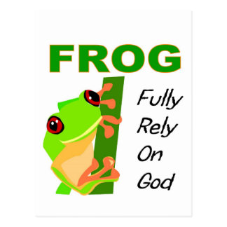 FROG, Fully rely on God Postcard
