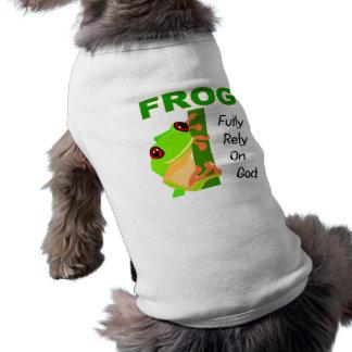 FROG, Fully rely on God Sleeveless Dog Shirt