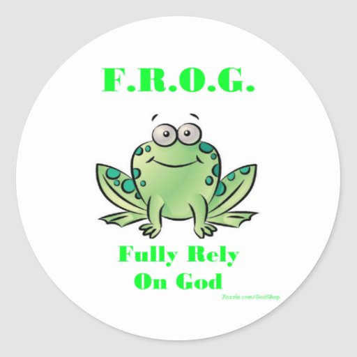 FROG (Fully Rely on God) Sticker