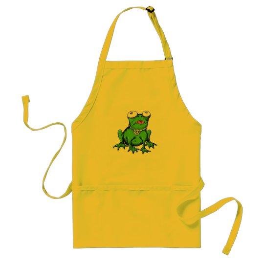 frog funny apron design