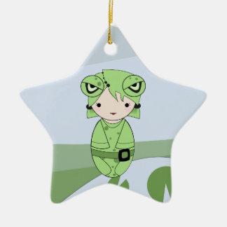 Frog Girl Christmas Ornament