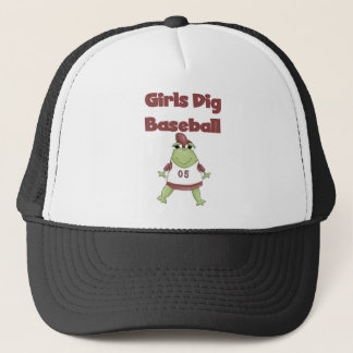Frog Girls Dig Baseball Tshirts and Gifts Trucker Hat