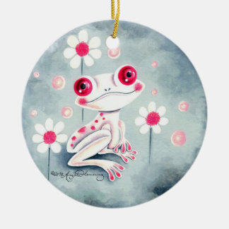 Frog Girly Pink Cute Christmas Ornament