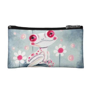 Frog Girly Pink Cute Makeup Bag