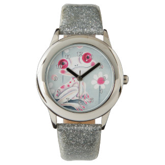Frog Girly Pink Cute Watch