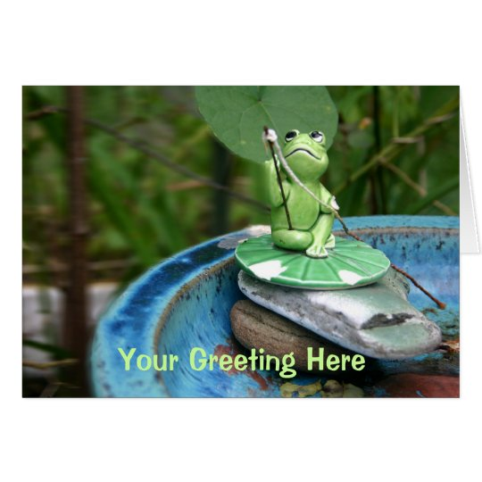 Frog Gone Fishing Greeting Card