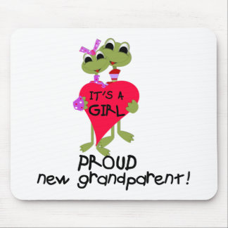 Frog Grandparent of Baby Girl Mouse Pads