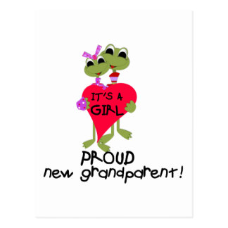 Frog Grandparent of Girl Tshirts and Gifts Post Cards