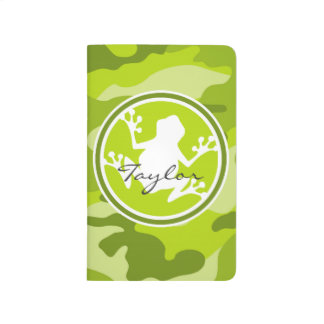 Frog;  green camo, camouflage journals