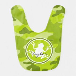Frog green camo camouflage bib