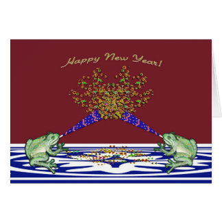 Frog happy New Year Card