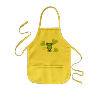 Frog & Hearts Kids Apron