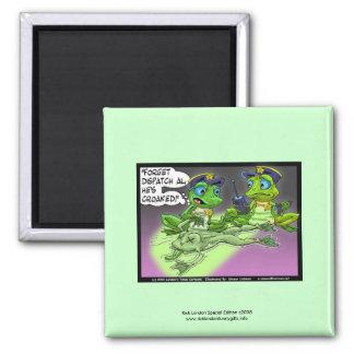Frog Homicide Police Cartoon Novelty Magnet
