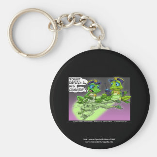 Frog Homicide Police Cartoon Quality Key Chain