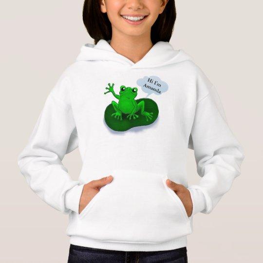 Frog illustration cartoon on a leaf
