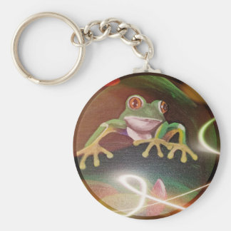Frog in a Bubble Key Ring