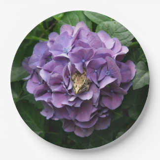 Frog in a Hydrangea, Paper Plates. Paper Plate