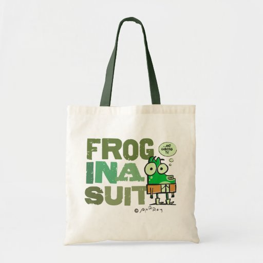 Frog in a Suit Budget Tote Bags