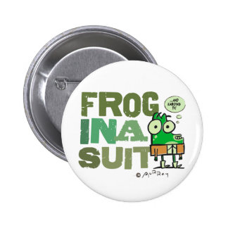 Frog in a Suit Button