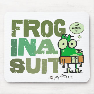 Frog in a Suit Mousepad