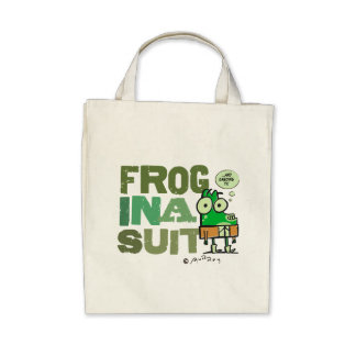 Frog in a Suit Organic Grocery Tote Bags