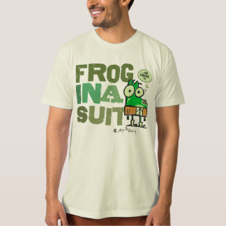 Frog in a Suit Organic T-Shirt for All Ages