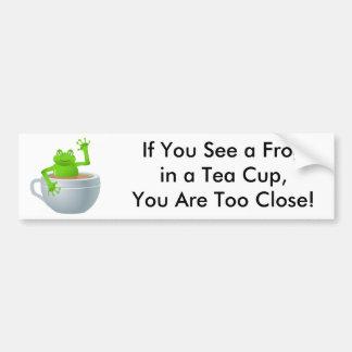 Frog in a Tea Bumper Sticker