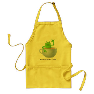 Frog in a Tea Standard Apron