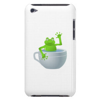 Frog in Cup Cartoon iPod Case-Mate Cases