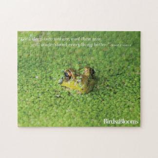 Frog in Green Algae Jigsaw Puzzle