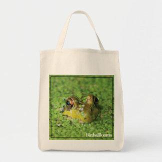 Frog in Green Algae Tote Bag