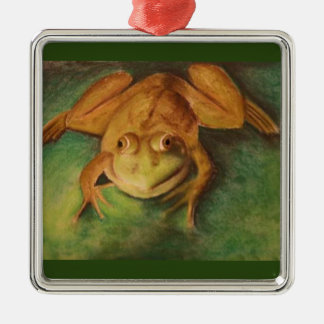 Frog in Pastels Christmas Ornaments