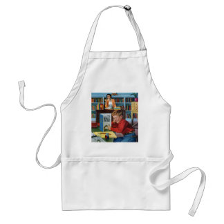Frog in the Library Standard Apron