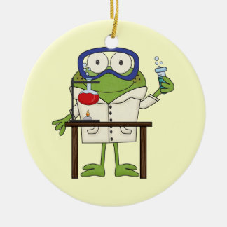 Frog in the Science Lab Christmas Ornament