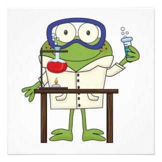 Frog in the Science Lab Invites