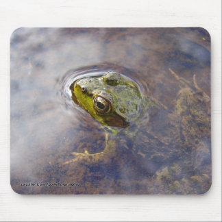 Frog in Water Mouse Pad