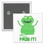 Frog It! Vector Crochet Frog