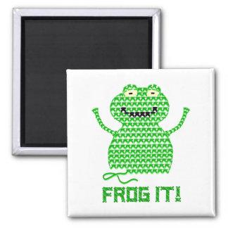 Frog It! Vector Crochet Frog Refrigerator Magnets