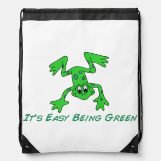 Frog It's Easy Drawstring Backpack