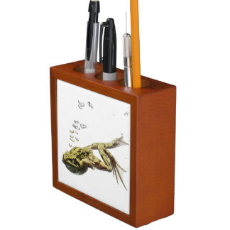 frog jumping and diving into the water desk organiser