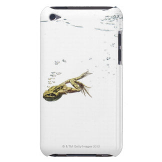 frog jumping and diving into the water iPod touch case