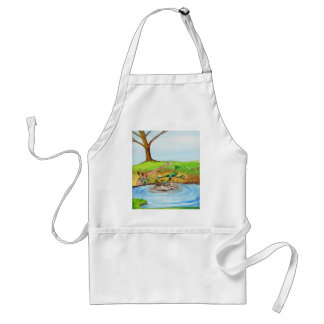 Frog jumping through the Mud Adult Apron