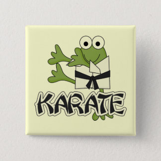 Frog Karate Tshirts and Gifts 15 Cm Square Badge